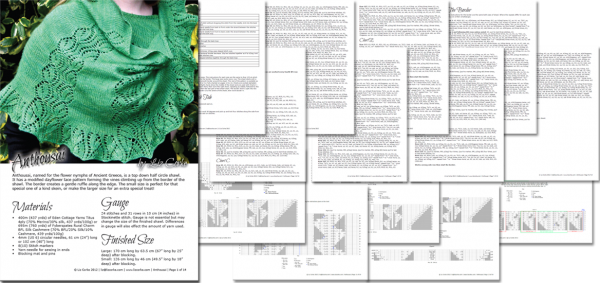 A spread of the pages in Anthousai