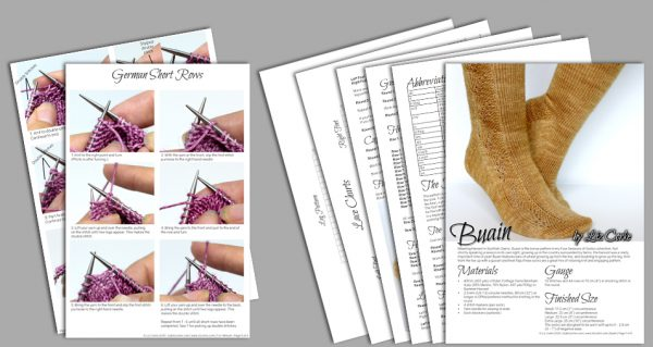 A spread of the pages in Buain