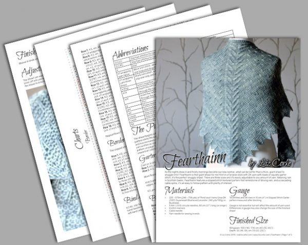 A spread showing the pages in Fearthainn