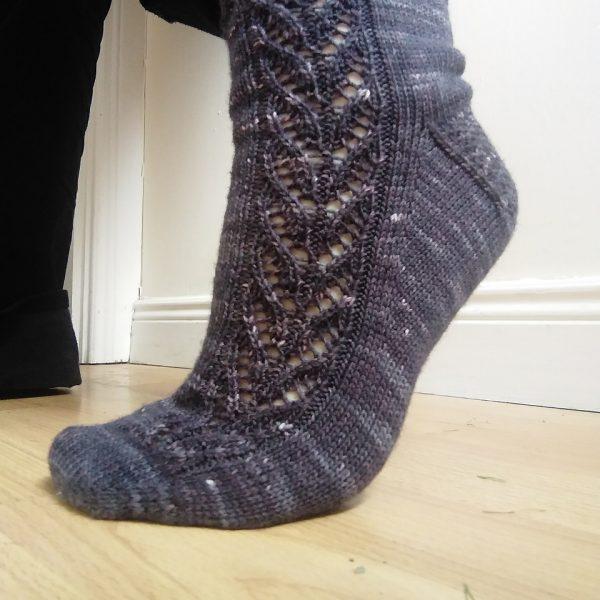 Fiona knit her medium Brocket in Gamercrafting Superwash Merino