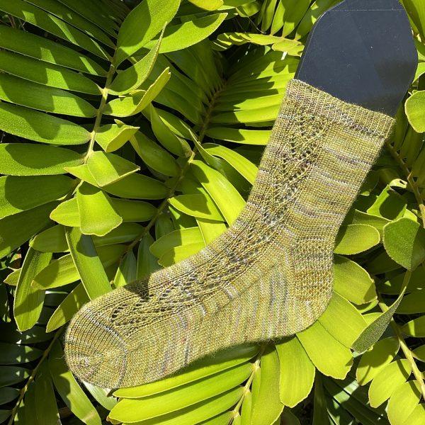 Skylar knit her Large Brocket in Teenybutton Tough Sock
