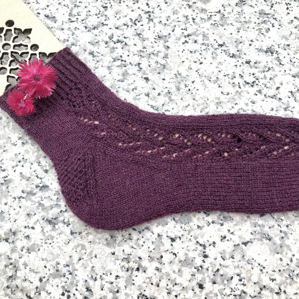 Veronique knit her small Brocket in Drops Fabel