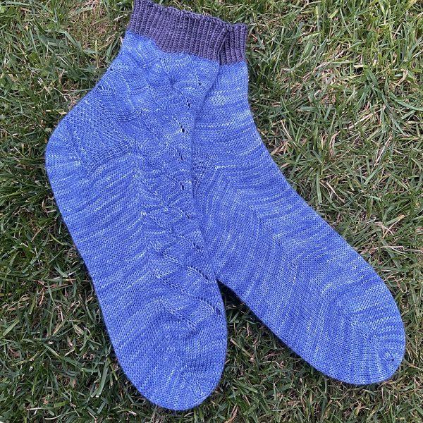 Liena knit her XL socks in Truely Hooked Sock abd Irish Artisan Yarns Sock