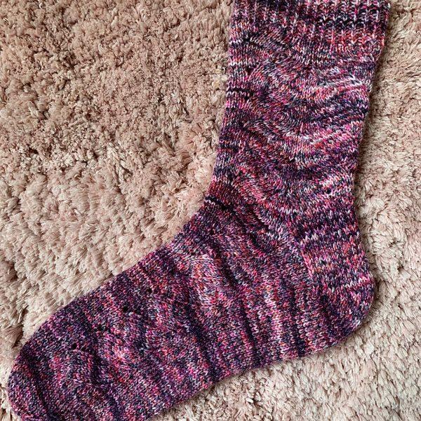 Rebecca knit her medium socks in KnitPicks Muse
