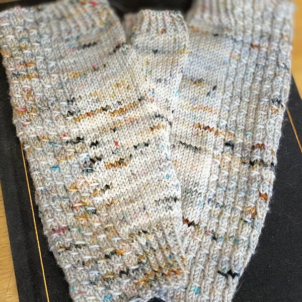 Christine made her M2 Aisneach Mitts in Spun Right Round Classic Sock in Drumroll