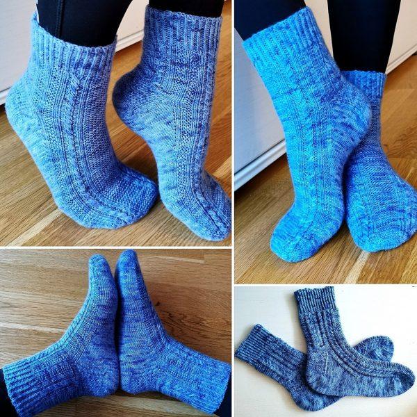 Jessica knit her medium Tìorail in Sprattlegarn from Henriettas Spinn and Garn